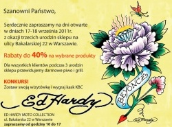 3-urodziny sklepu na Bakalarskiej